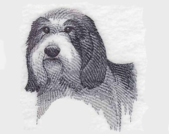 Bearded Collie Tea Towel | Embroidered Kitchen Towel | Dog Lover Gift l | Embroidered Tea Towel | Personalized Kitchen Towel | Hand Towel