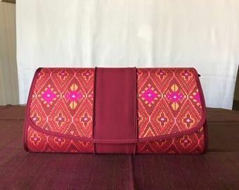 Handmade silk clutch 005