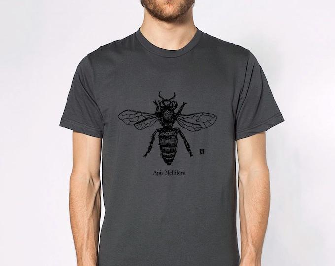 KillerBeeMoto: Honey Bee (Apis Mellifera) Pen Sketch Short & Long Sleeve Shirts