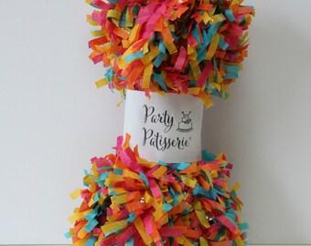 Fringe, Tissue Garland, Party Decor (Multi-Color)