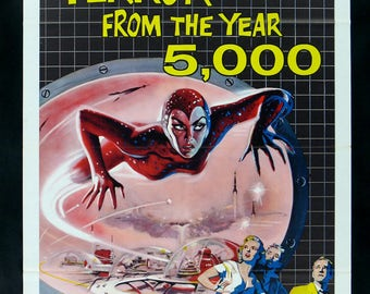 Terror from the Year 5000! - retro horror movie poster print 11x17