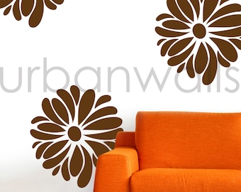 Vinyl Wall Sticker Decal Art - Funky Flowers