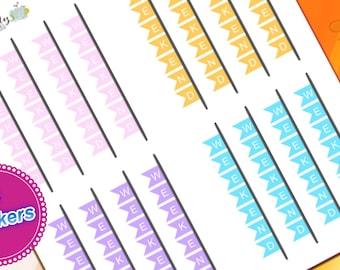 16 HORIZONTAL Weekend Planner Sticker for Erin Condren Life Planner (ECLP) Reminder Sticker LDD1142