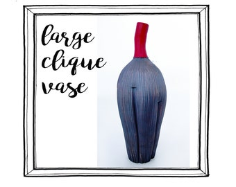 Large Clique Vase - red with iron stain