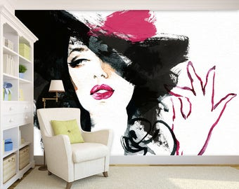 3D Modern Girl 883 View Wallpaper Mural Wall Print Decal Wall Deco Indoor wall Murals Wall Sticker kids Child Wallpaper