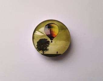 Hot Air Balloon Glass Needle Minder