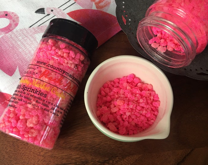 Peach Bellini - Bubble Bath Sprinkles - Bubbling Salt Soak - Vegan Friendly Bubble Bath