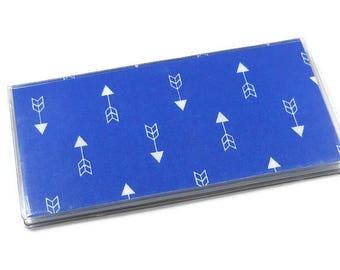 Checkbook Cover Arrow Blue