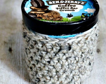 Ice Cream Cozy Crochet Pattern One Pint THE MOUNT VERNON