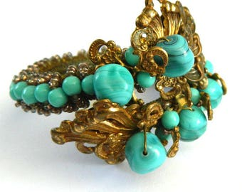Vintage 1930s Miriam Haskell Wrap Bracelet