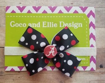 alabama bow headband/alabama girl-bama girl-alabama newborn-alabama baby girl shower gift/newborn alabama/baby alabama/roll tide baby