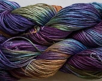 Silk Bamboo, Hand painted yarn, 225 yds - Vineyard