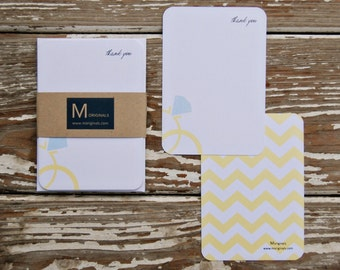Personalized Notecards - Set of 8 - Wedding Rings