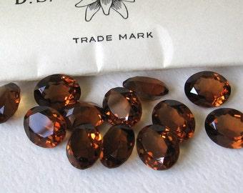 Smoked Topaz Swarovski Oval Crystals 10x8mm 12pcs