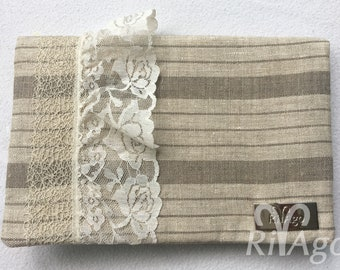 RivAgo clutch in ivory