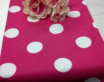 POLKA DOT RUNNER or Tablecloth,  choose color, Table Runner,  X-Large Polka Dot, Choice of Fuchsia,  Black, Pink Brown, Theme Party