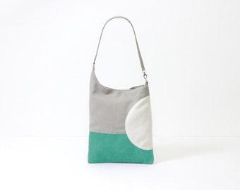 graphic design turquoise messenger bag laptop bag canvas shopper bag