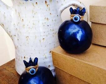 ceramic pomegranate/ home decor