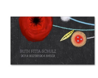 Watercolors Mixed Media Business cards