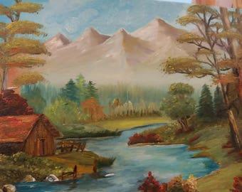 Landscape-original oil painting code:2
