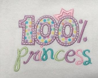 Onesie, baby bodysuit, princess, purple, appliqué, custom embroidered