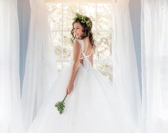 NEW! The Olivia Dress in White - Flower Girl Dress