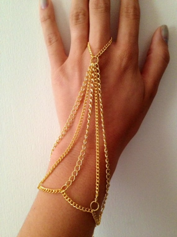 Gold hand chain chain jewelry body armor hand chain gold