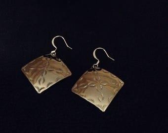Native american design earrings diamond shape