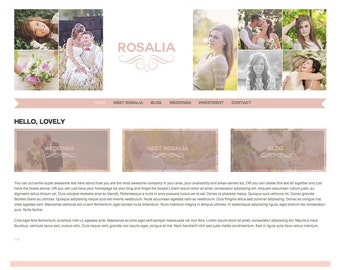 Responsive Wordpress Template - Wordpress Theme - Wordpress Photography website - instant download blogsite