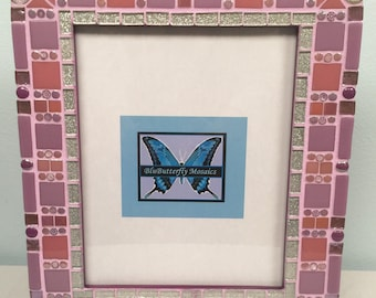 8x10 Purple and Pink Mosaic Picture Frame