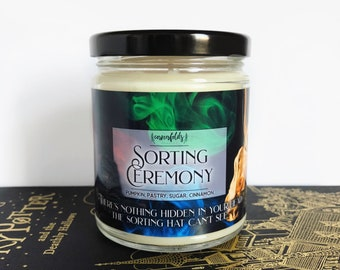 Sorting Ceremony (Hidden Treasure Candle) | Harry Potter Inspired 8oz. Scented Soy Candle
