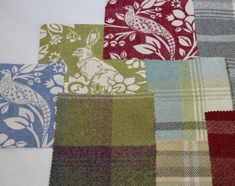 Luxury Dog Bed Fabric Samples
