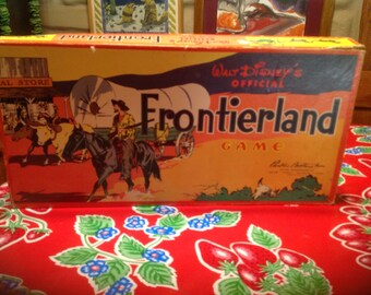 Vintage Walt Disney Frontierland Game by Parker Brothers- 1960s