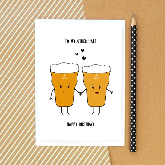 Beer card birthday card funny card beer card for him like this item bookmarktalkfo Choice Image