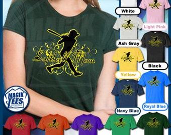 Softball Mom (Silhouette) T-Shirt