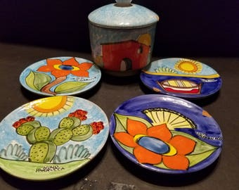 Nino Parrucca Pottery Set of 5 Items Signed