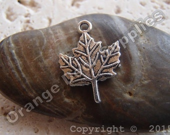 Maple Leaf Charm - 16mm x 15mm - 10 Pcs (MWC 167)