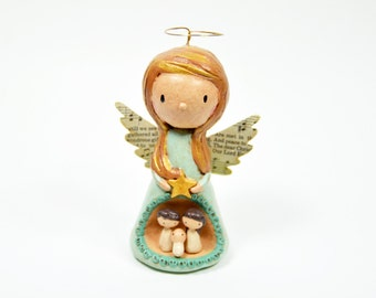 Angel Nativity Sculpture - Original Art Sculpture