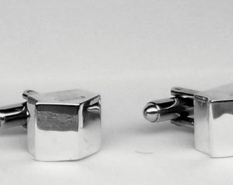 House Cufflinks in solid sterling silver Free Shipping