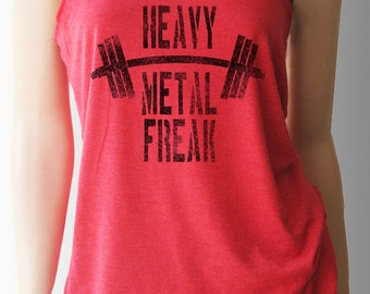 Heavy Metal Freak Workout Tank. Workout Shirt. Workout Clothes. Exercise Clothing. Weight Lifting Shirt. Fitness Tank.