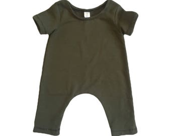 RTS OLIVE Short Sleeve Romper size 9 months