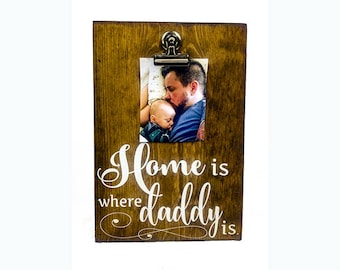 Picture Frame For Daddy, Gifts from Kids, Photo Gifts for Dad, Photo Frame for Fathers Day Gift, Quote Picture Frame for Dad, Fathers Day