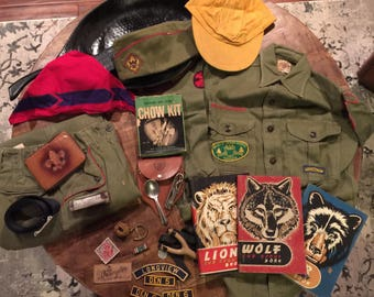 Vintage 1950's Cub Scout collection Texas