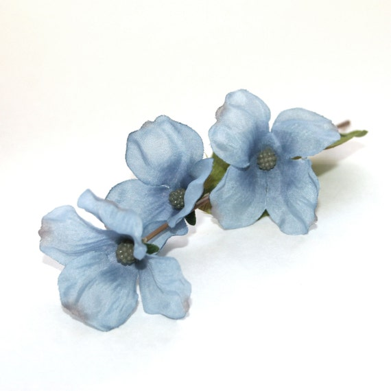 4 wedgewood blue dogwood picks artificial flowers silk flower 4 wedgewood blue dogwood picks artificial flowers silk flower blossoms pre order from silkinspirations on etsy studio mightylinksfo Image collections