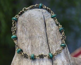 Green and bronze bracelet