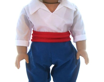 American Girl Sized  Prince Eric Costume From The Little Mermaid by special order