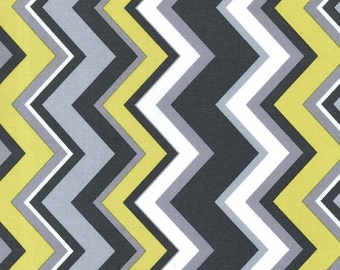 Citron and Gray Chevy Citron for Michael Miller, 1/2 yard