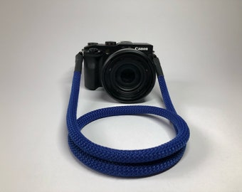 Camera Strap for DSLR blue-Camerastrap-rope-camera Band-10 mm-Universal shoulder strap-carrying strap-Sony Olympus-Seilstyles
