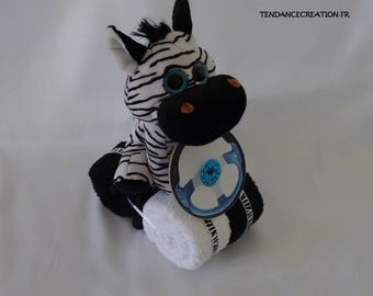 Plush on the quad! Savannah Zebra. Cake napkins