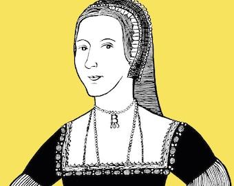 Anne Boleyn - Six Wives A6 Greetings Card